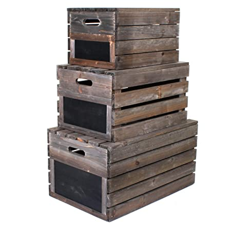 Marko Wooden Crate Vintage Rustic Style Apple Fruit Crates Storage