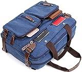 17,15.6 Inch Laptop Backpack,Hybrid Laptop Backpack Messenger Bag / Convertible Briefcase Backpack BookBag Rucksack Satchel Waxed Canvas