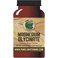 Pure Lab Vitamins Magnesium Glycinate - 300 Caps, Vegan, Halal, Gluten-, Sugar-, Soy Free - 165mg - Helps to Maintain…