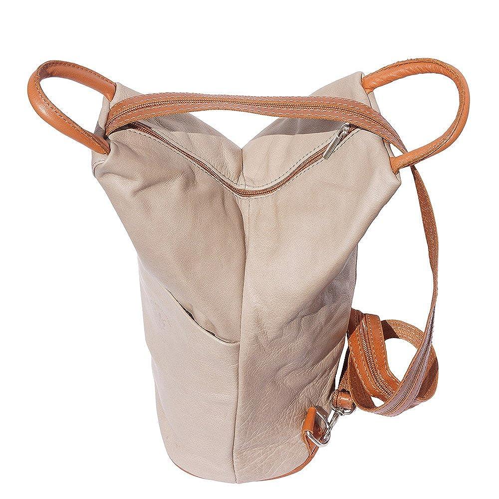 Florence Leather Market Sac /à dos et /à /èpaule Vanna en cuir de vache souple 2061 Sacs /à main en cuir
