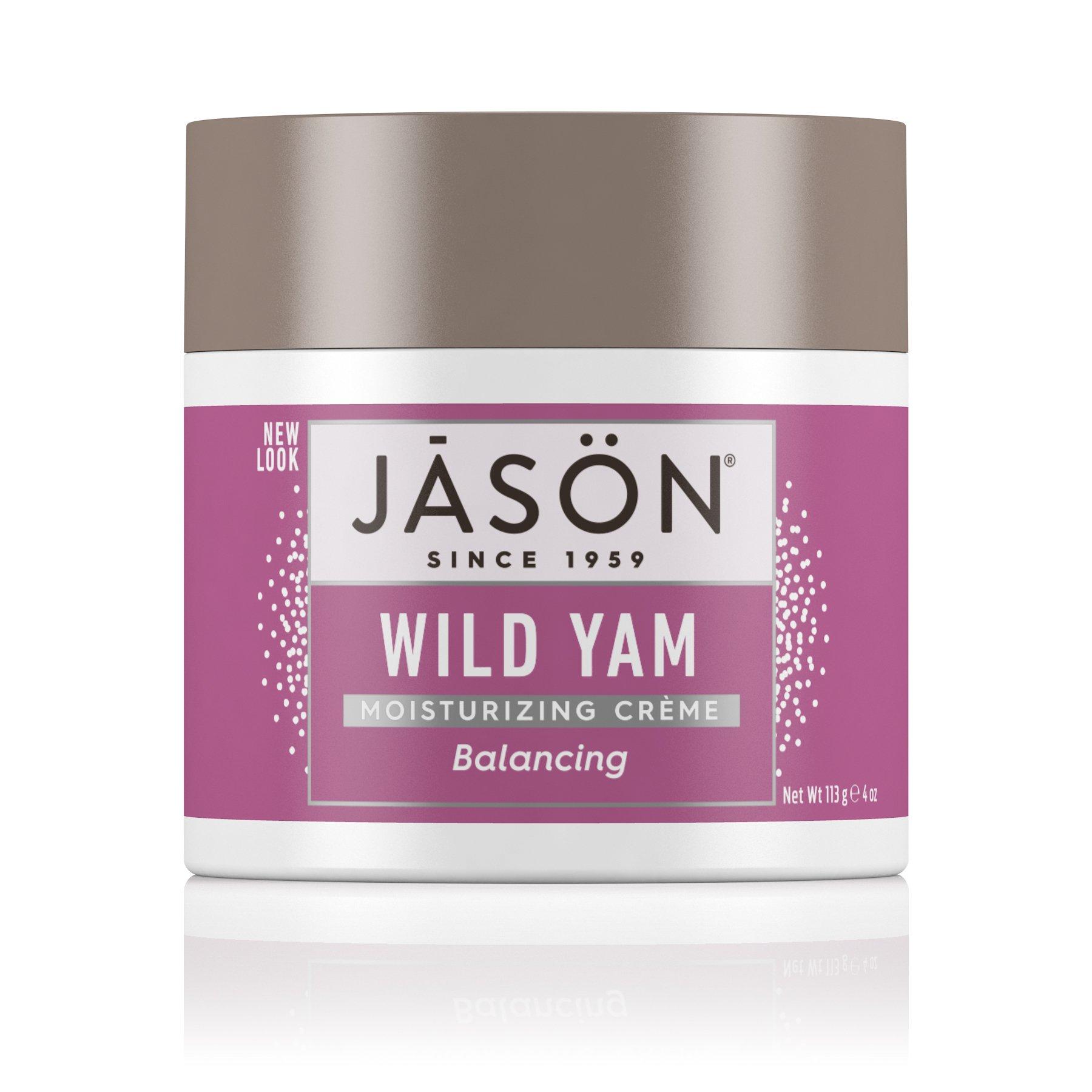 JASON Balancing Wild Yam Moisturizing Crème, 4 oz. (Packaging May Vary)