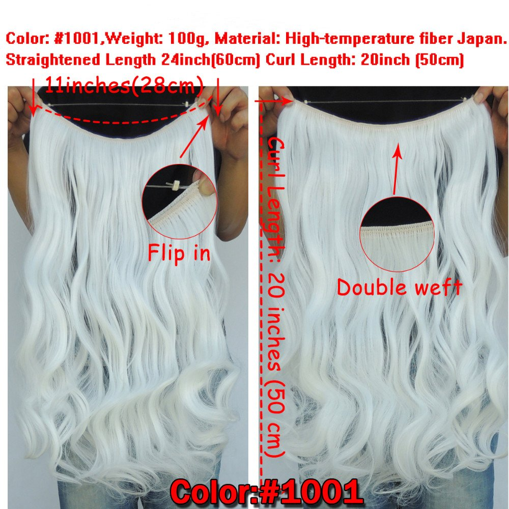 Amazon.com : Secret Halo Hair Extensions Flip in Curly Wavy Hair ...