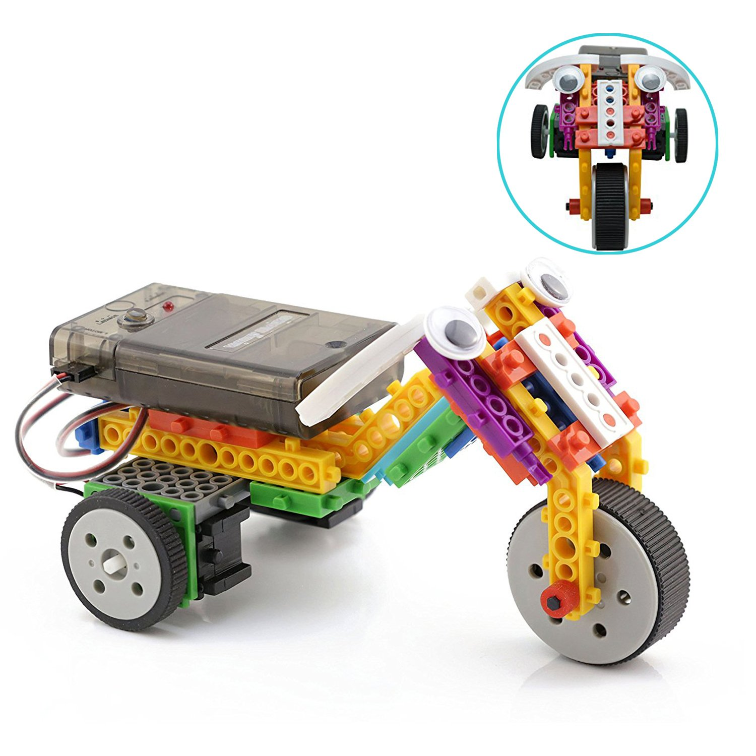Boy Toys STEM Robot Kit Building Toys Remote Control Building Kits for Teen/Girl/Boy Gifts Building Blocks Construction Set Build Your Own RC Machines 123 Pieces by PACKGOUT (Image #2)