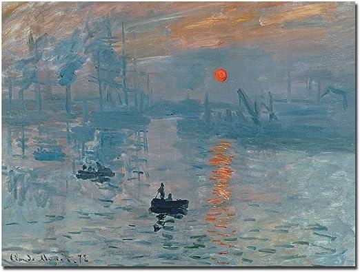 Amazon Com Impression Sunrise By Claude Monet 24x32 Inch Canvas Wall Art Prints Posters Prints