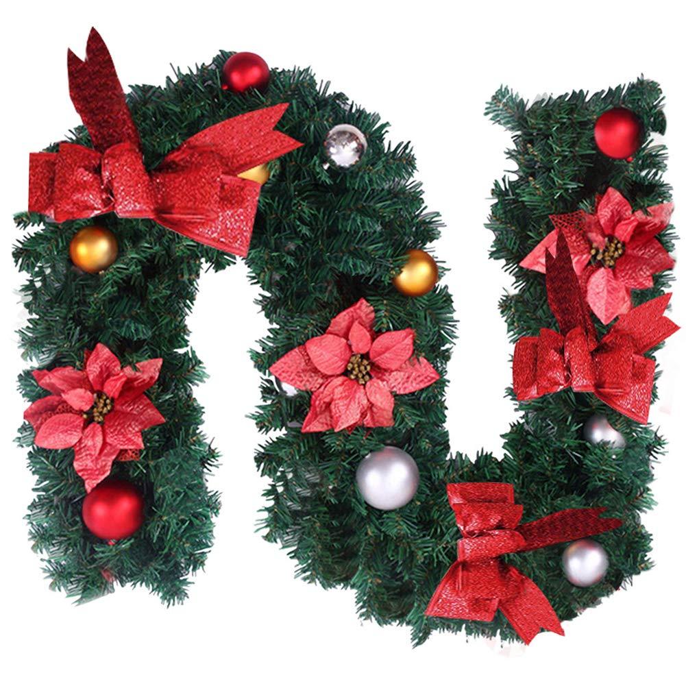 CoolMarteu Weihnachtsgirlande Tannengirlande Weihnachten Girlande ...