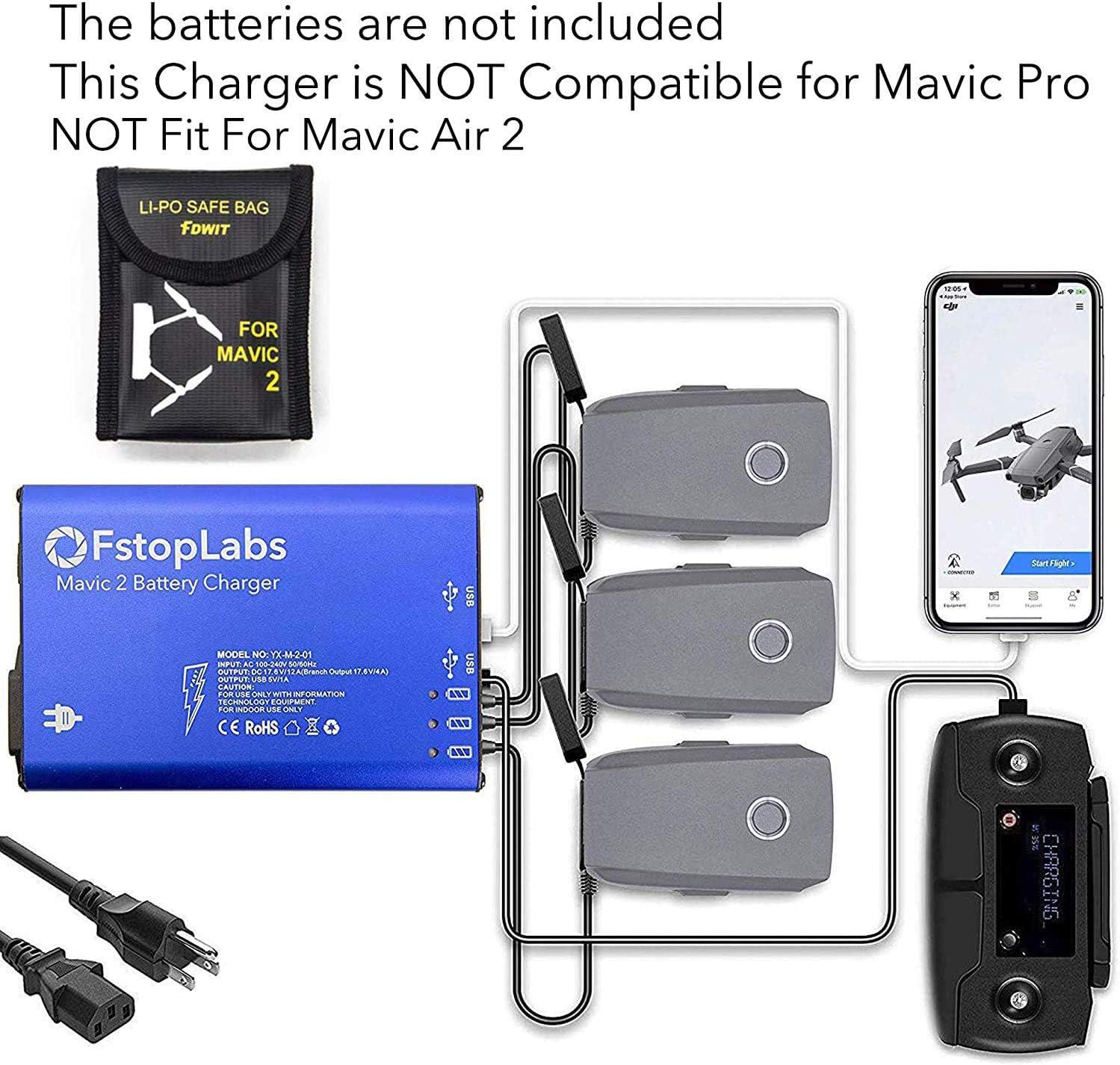 Zoom Multi Flight Batterieladegerät Schnelllade-Hub für DJI Mavic 2 Pro