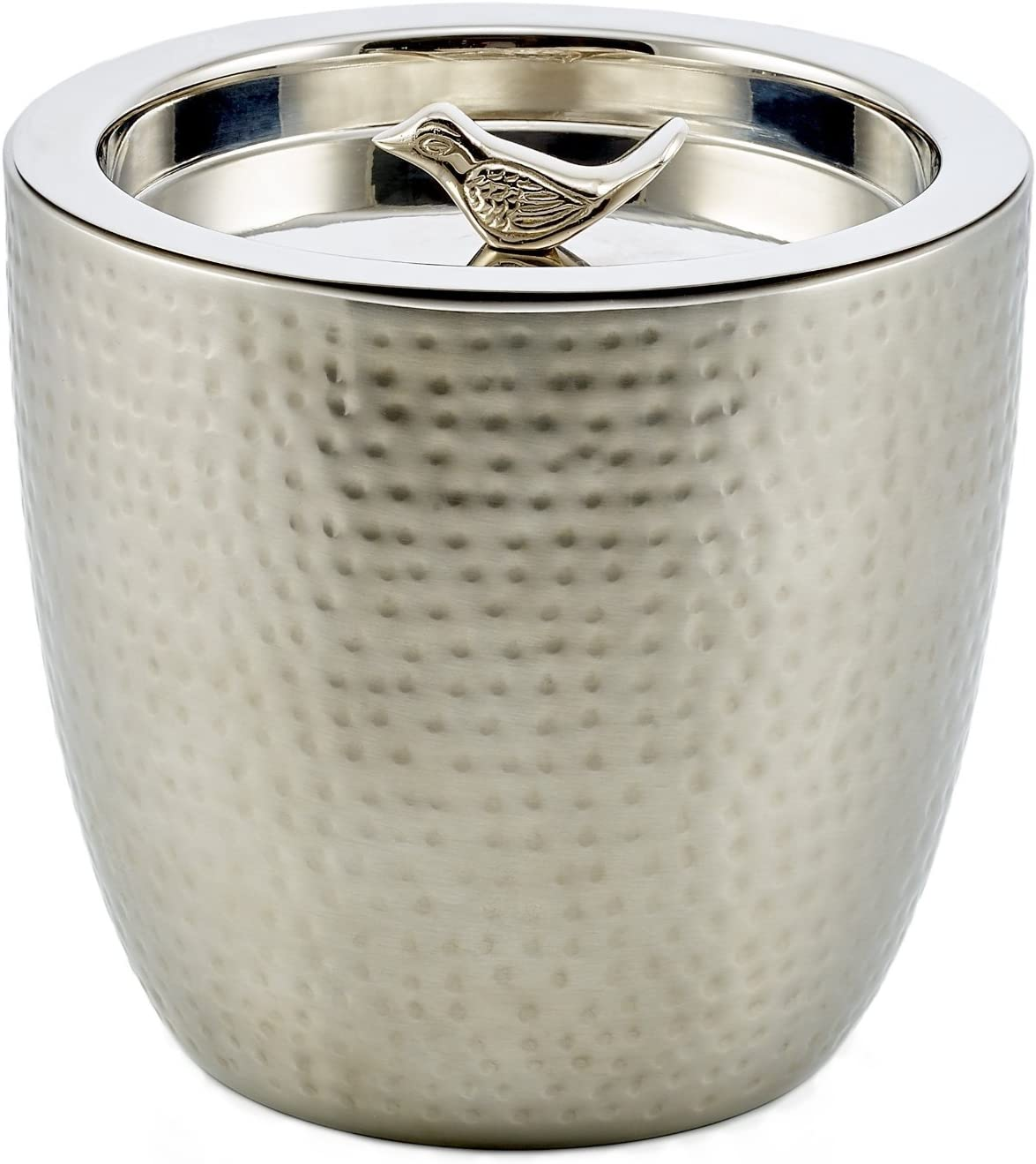 Old Dutch 'Churp' Hammered Double Walled Stainless Steel Ice Bucket with Bird Knob, 11/2 quart [並行輸入品]