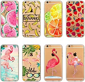 Mixneer iPhone 5/5S/SE Case, Watermelon Fruit Banana Flamingo Slim TPU Phone Case for Apple iPhone 5/5S/SE - Style 1