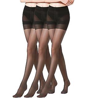 71e118e9f HONENNA Women s 40 Den Silky Sheer Reinforced T Crotch Pantyhose Tights