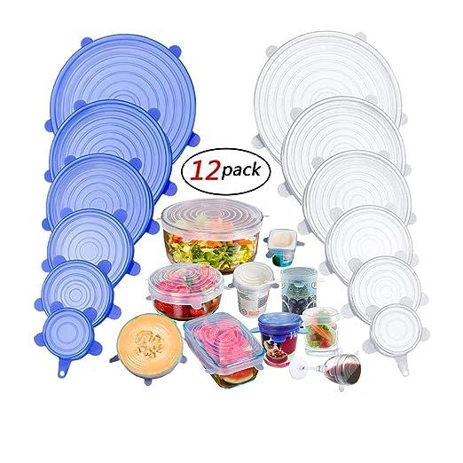 EacoLids Tapas de silicona y cubiertas para platos de ...