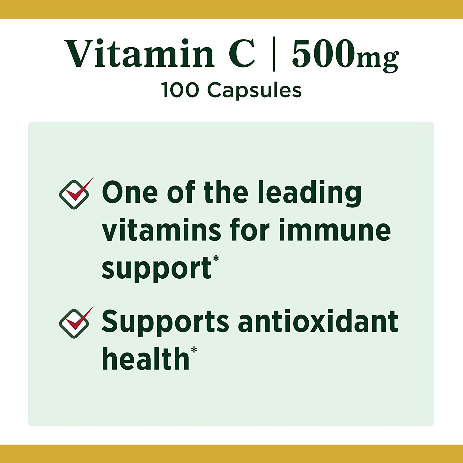 Vitamin C by Nature's Bounty for immune support. Vitamin C is a leading leading vitamin for immune support.* 500mg, 100 Capsules : Grocery & Gourmet Food