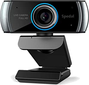 Hd Webcam 1080p with Microphone, USB Webcam for Desktop, Computer, PC,Mac, Laptop Video Conferencing, Recording and Streaming, Plug And Play with Xbox, Zoom, Skype