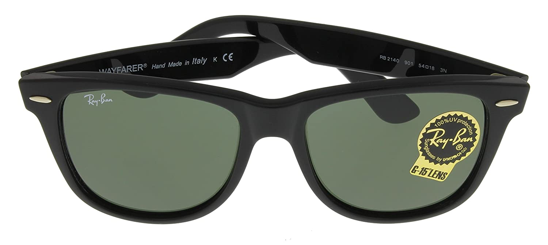 bb87c2e6a ... ireland amazon ray ban mens wayfarer sunglasses black one size clothing  22b65 2b78f