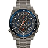 Bulova Precisionist Chronograph Mens Watch, Stainless Steel , Two-Tone (Model: 98B343)