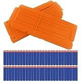 2 Stück für Nerf Darts Schnell Nachladen Clip mit 60 Stück Elite 7,2cm Darts für Nerf N-Strike Elite