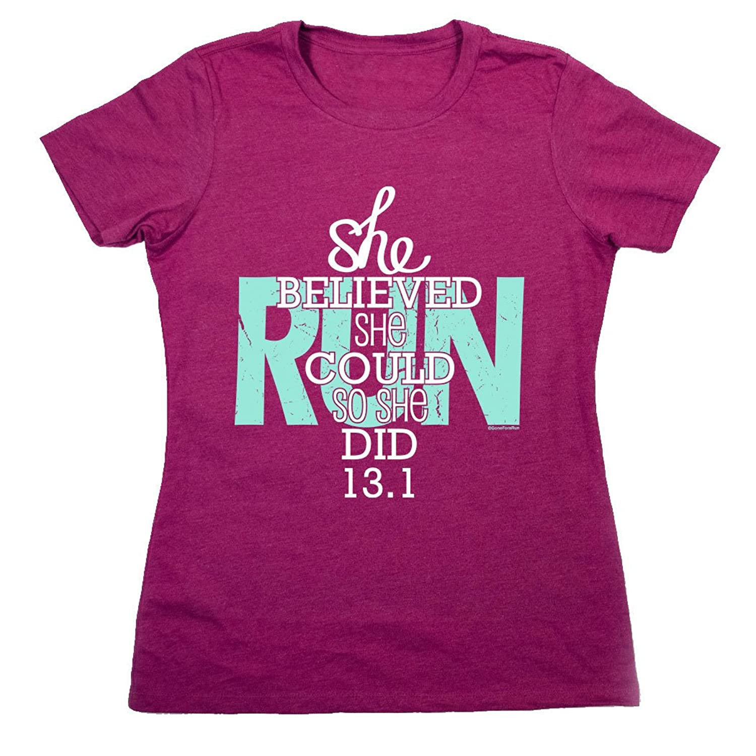 Running FItted T-Shirt Short Sleeve | She Believed She Could 13.1