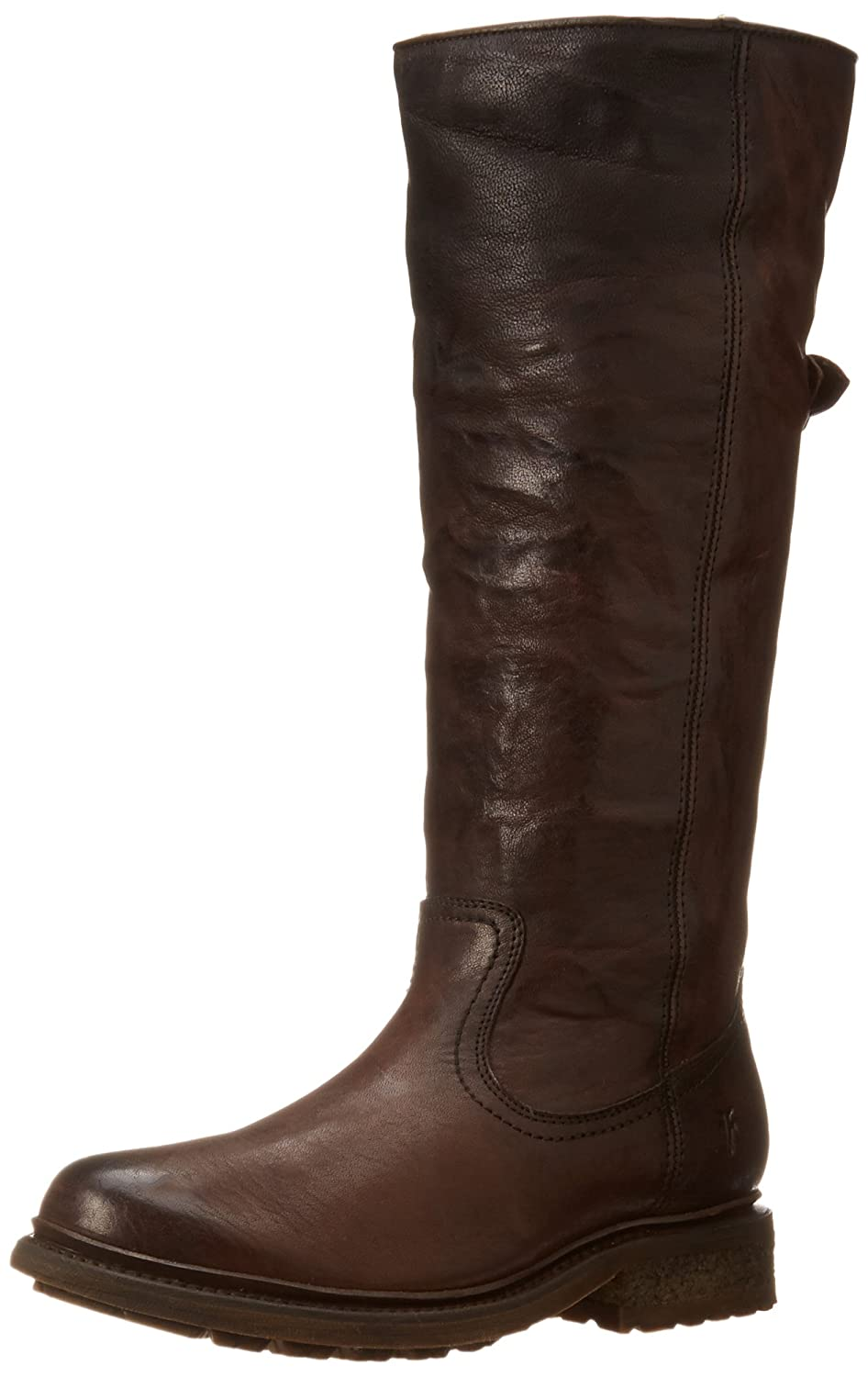 FRYE Women's Valerie Sherling Pull-On Riding Boot B00IMJMDE2 8.5 B(M) US|Dark Brown-75007