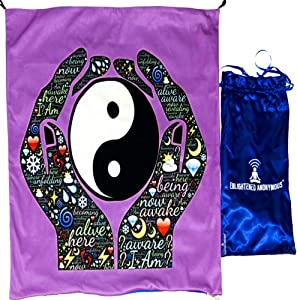Wall decor aesthetic for living room, Yinyang meditation mat, Meditation gift for men & women, Room decor small, Tapestry wall hanging, Mindfulness cushion cover, Travel yoga mat, Wall art unique, Satin bag, Velvet premium yin-yang mat, Meditation cushion square, Yin yang meditation cushion 70x70cm, Meditation item, Yoga meditation mat & decor, Yin yang rug, Yin yang gifts, Yin yang floor pillow, Mindfulness gifts for adults, office, Stress relief gifts for women,friend, Holy gift for men,cowork
