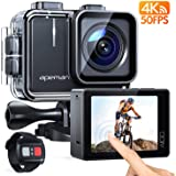APEMAN A100 Touch Screen Real 4K/50FPS Action Camera WiFi 20MP Waterproof Camera Underwater 40M with EIS Remote Control…
