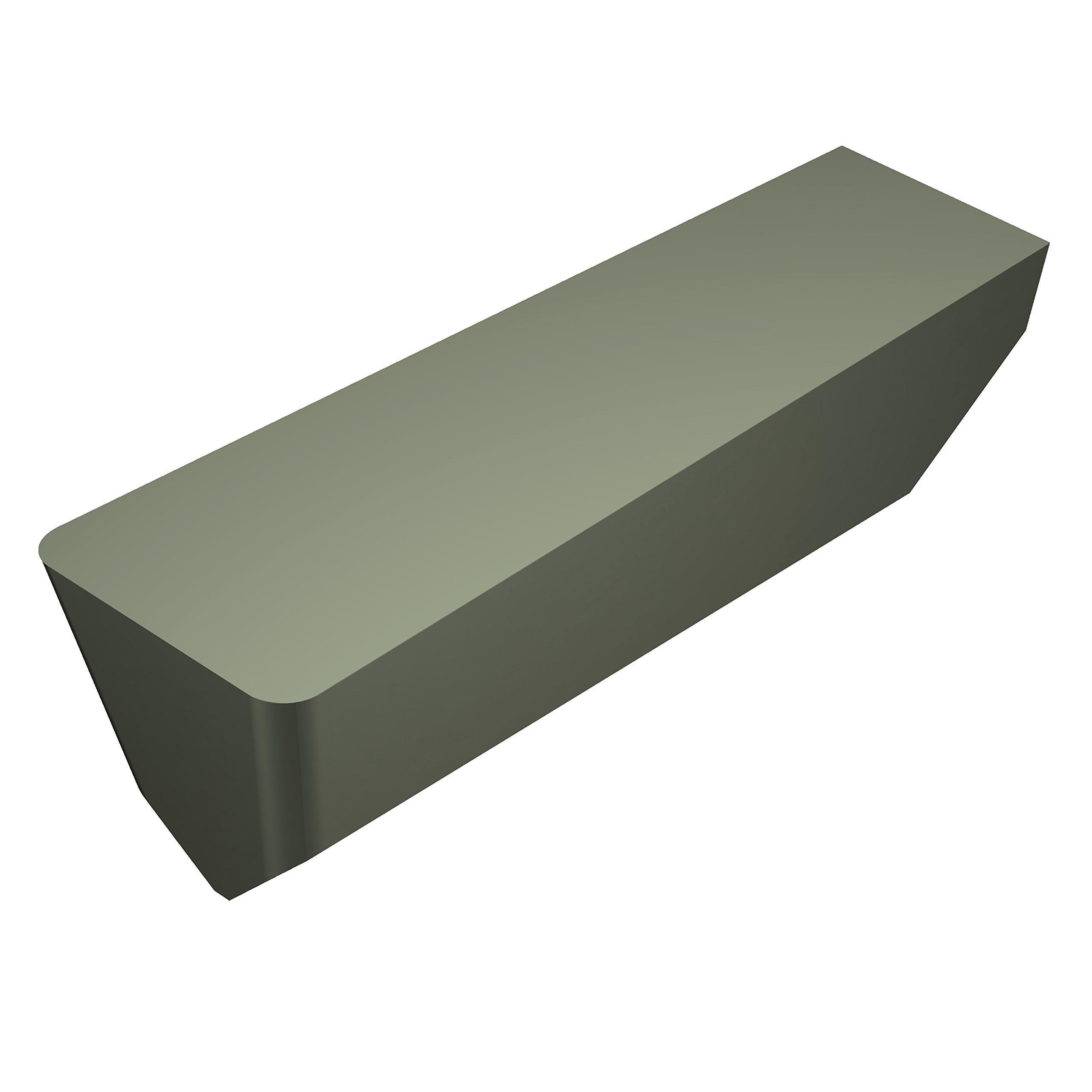 Sandvik Coromant T-Max Ceramic Grooving Insert, T Geometry, CC670 Grade, Uncoated, 1 Cutting Edge, CSG-4125-1T0320, Neutral Cut, 0.125'' Cutting Width, 0.015'' Corner Radius, 1 Insert Seat Size (Pack of 10)