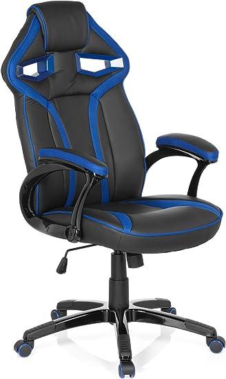 hjh OFFICE 722200 Silla Gaming Guardian Piel sintética Negro/Azul ...