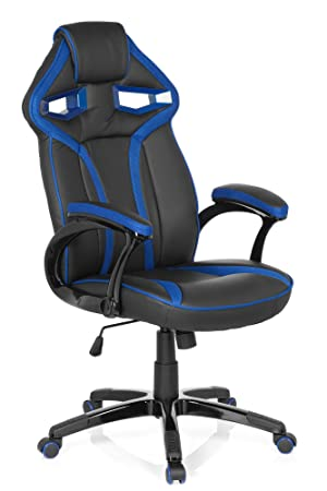 hjh OFFICE 722200 Silla Gaming Guardian Piel sintética Negro/Azul Silla de Escritorio: Amazon.es: Hogar