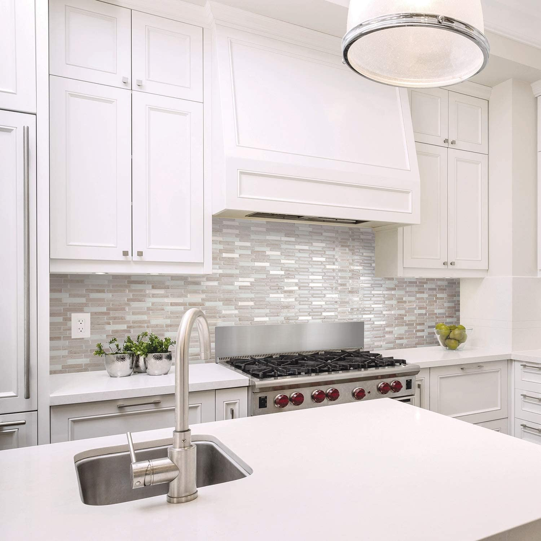Smart Tiles Self Adhesive Wall Tiles Milenza Vasto 4 Sheets Of 10 20 X 9 00 25 91 Cm X 22 86 Cm Kitchen And Bathroom Stick On Tiles 3d Peel And Stick Backsplash Marble Tiles Amazon Canada