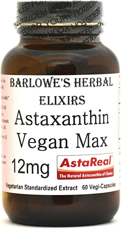 Barlowe's Herbal Elixirs Astaxanthin Vegan Max