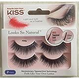 KISS Looks So Natural Eyelashes - Flirty - Double Pack - KFLD03 - 62012 - 2 Pairs