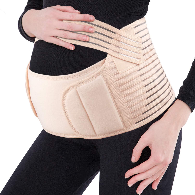FT-SHOP Bauchb/änder f/ür Schwangere G/ürtel Nahtlos und Atmungsaktiv Schwangerschaft St/ützg/ürtel Beckenschmerzen Lindern