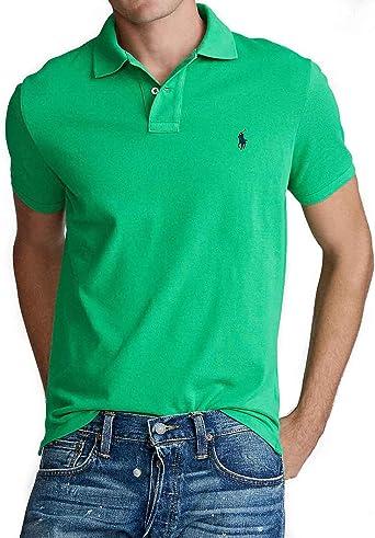 Polo Ralph Lauren SS KC Slim Fit Verde Hombre Small Verde: Amazon.es: Ropa y accesorios