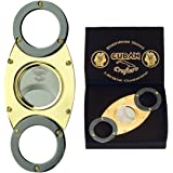 NEW GOLD AND TITANIUM CIGAR CUTTERS - CUBAN CRAFTERS ENAMEL HANDLES