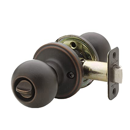 Copper Creek BK2030TB Ball Privacy Door Knob, Tuscan Bronze