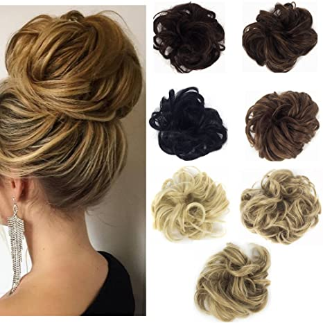 haironline synthetic hair scrunchy wavy curly scrunchie hairpiece