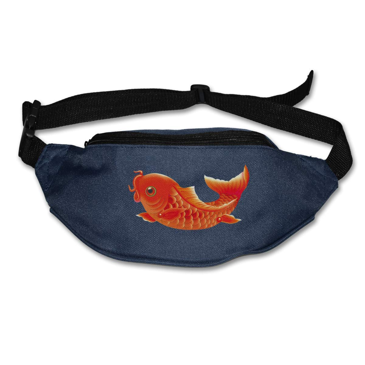 Waist Purse Red Fish Funny Logo Unisex Outdoor Sports Pouch Fitness Runners Waist Bags