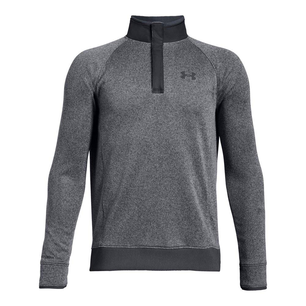 Under Armour Boys' Storm SweaterFleece ½ Snap, Rhino Gray (076)/Rhino Gray, Youth Large