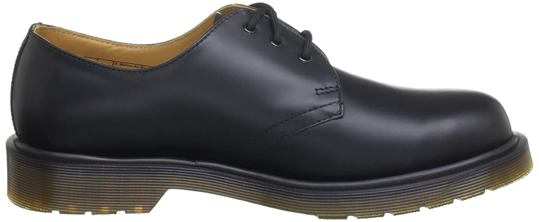 Dr. Martens 1461 PW Smooth, Zapatos con cordones Para Hombre, Negro (Black Smooth), 42 EU