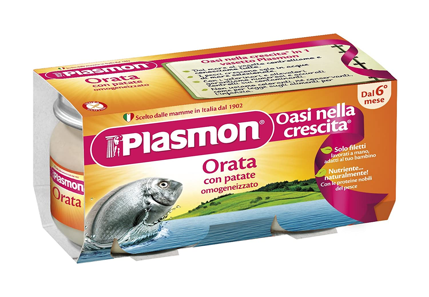 Plasmon Sea Bream Fillet with Potatoes Meal Puree (2x80g) 70125300