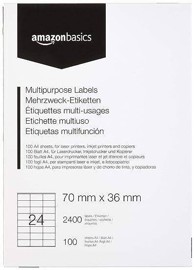 1000 x 24 Adresse Étiquette par Feuille Autocollante STICKY adresse étiquette Peel Off UK