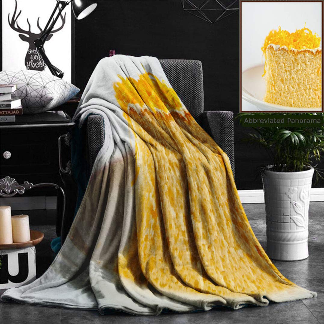 """Nalagoo Unique Custom Flannel Blankets Thai Desserts Are Sweet Super Soft Blanketry for Bed Couch, Twin Size 60"""" x 70"""""""