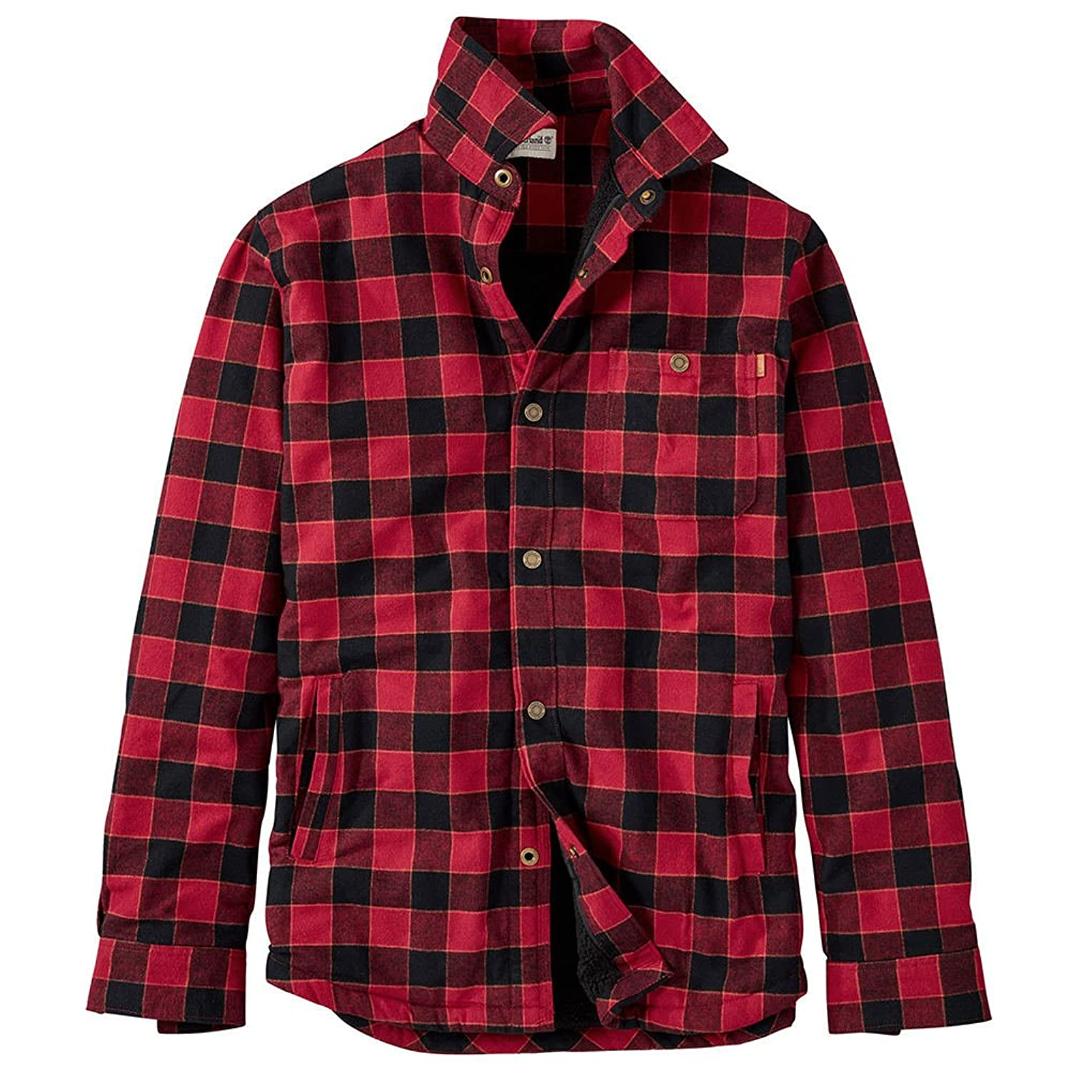 Timberland OUTERWEAR メンズ B076YTX7V6  Tibetan Red-black-plaid 3L