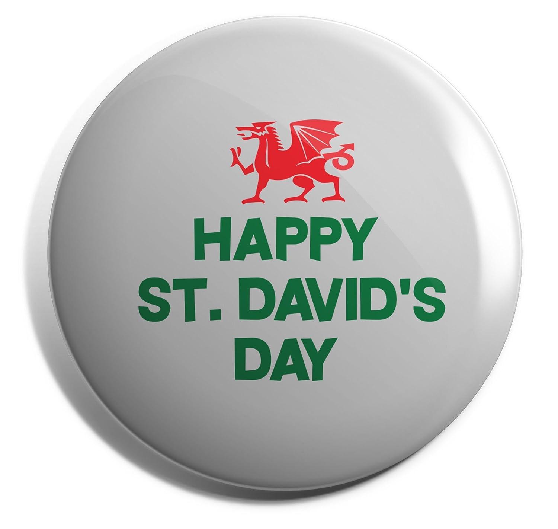Hippowarehouse Happy St Davids day Badge Pin
