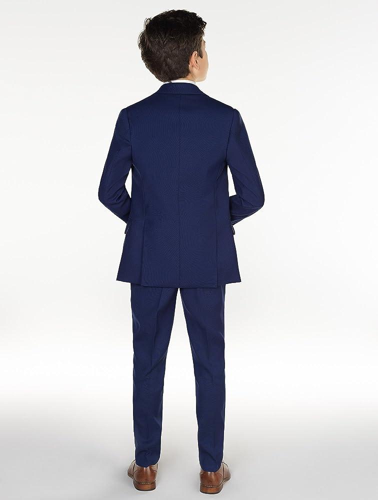X-Large 20 Kingsman Blue Boys Slim Fit Occasion Wear Paisley of London Kids Formal Wedding Suit Set