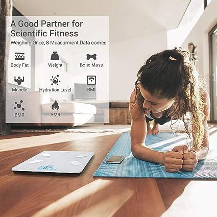 digitale Personenwaage f/ür K/örpergewicht , Body Composition Analyzer Funktioniert mit Android und IOS-APP XCSOURCE BT-K/örperfettwaage