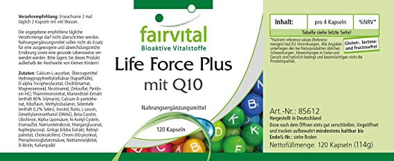 Lifeforce Plus con Q10- - ALTA DOSIS - 120 cápsulas - multivitaminas ...