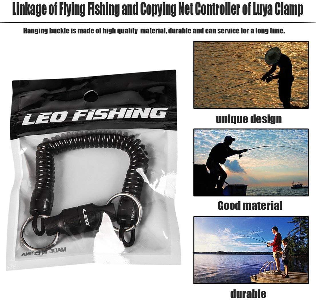 SKYYKS Titular de liberaci/ón de Red magn/ética de Pesca con Mosca con Hebilla Colgante Herramienta de Pesca de Engranaje Neto Herramienta de Pesca