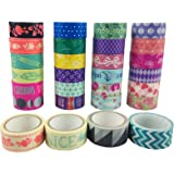 aufodara 10pcs Washi Masking Tapes Sets DIY Scrapbooking Sticker