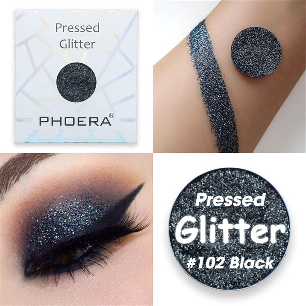 Keepfit PHOERA Customize Magnetic Pan Eyeshadow Collection Shimmer Glitter/Matte Eye Shadow (AB)