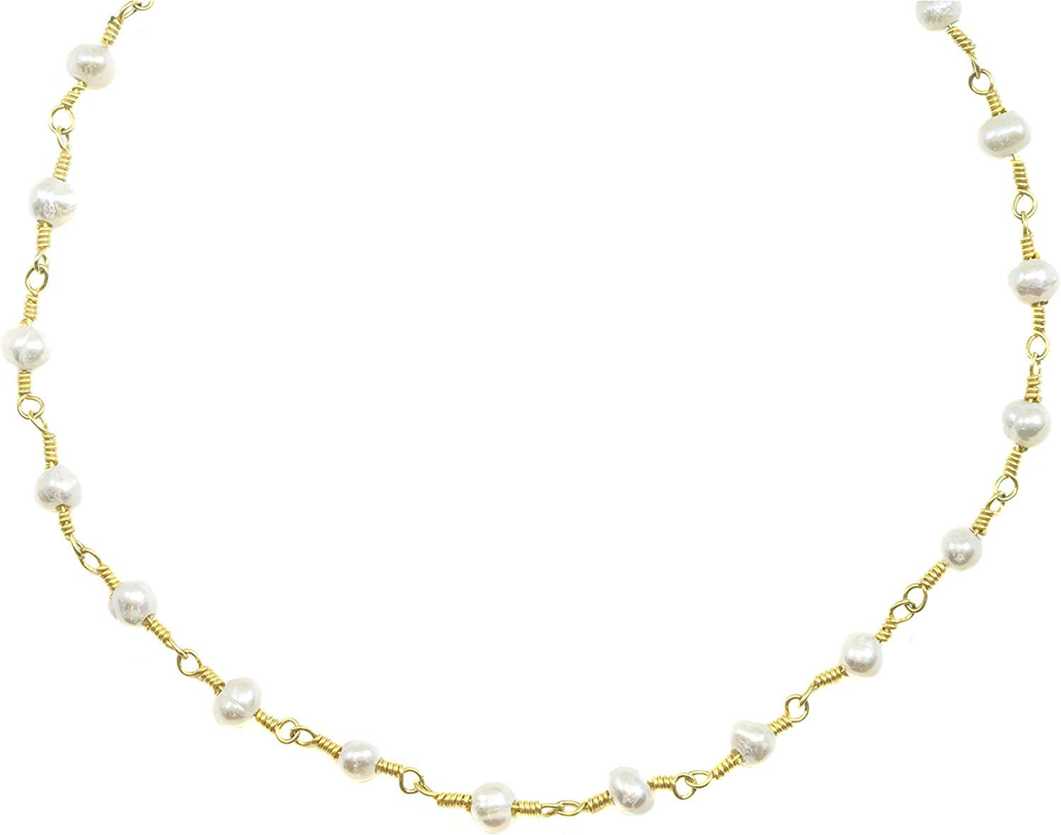 Freshwater cultured pearl on gold filled