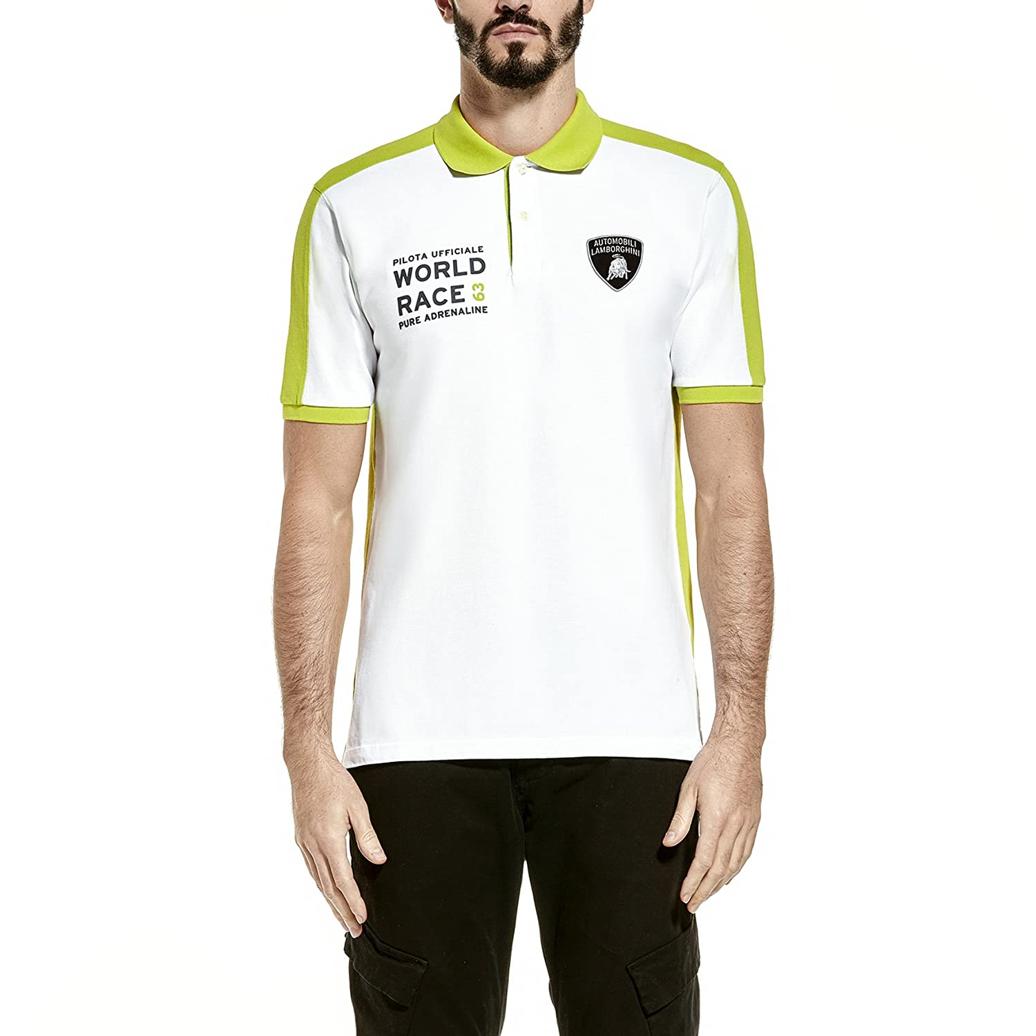 Automobili Lamborghini Hombre World Race Polo Shirt Green XXL ...